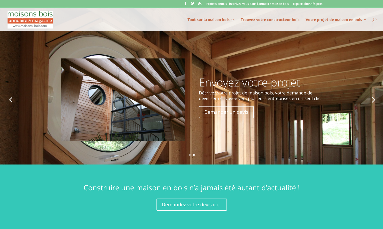 Site Maisons Bois.com